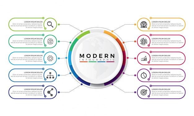 Simple colorful timeline infographics design Premium Vector