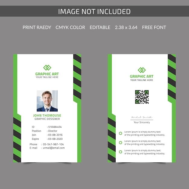 Simple company id card Premium векторы