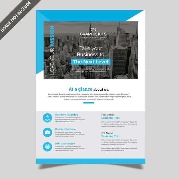 Simple corporate flyer Premium Vector