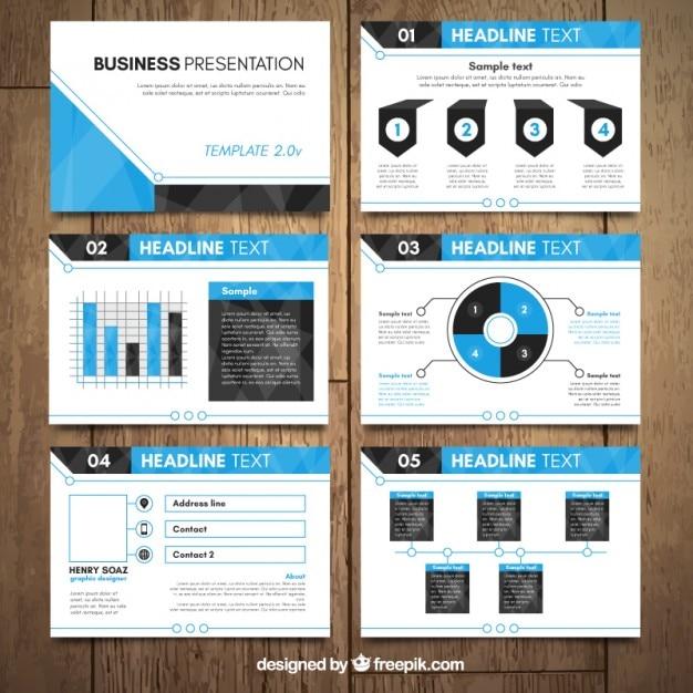 simple corporative presentation vector free download