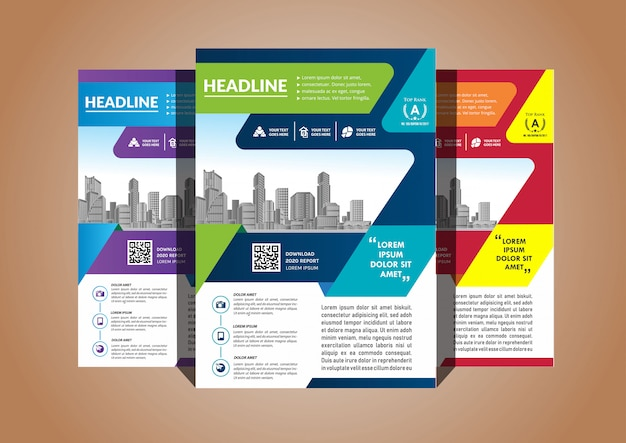 Simple cover layout brochure magazine catalog flyer for background Premium Vector