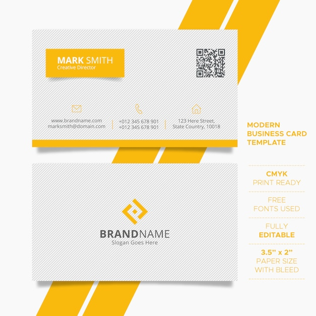 Simple creative business card template Premium Vector