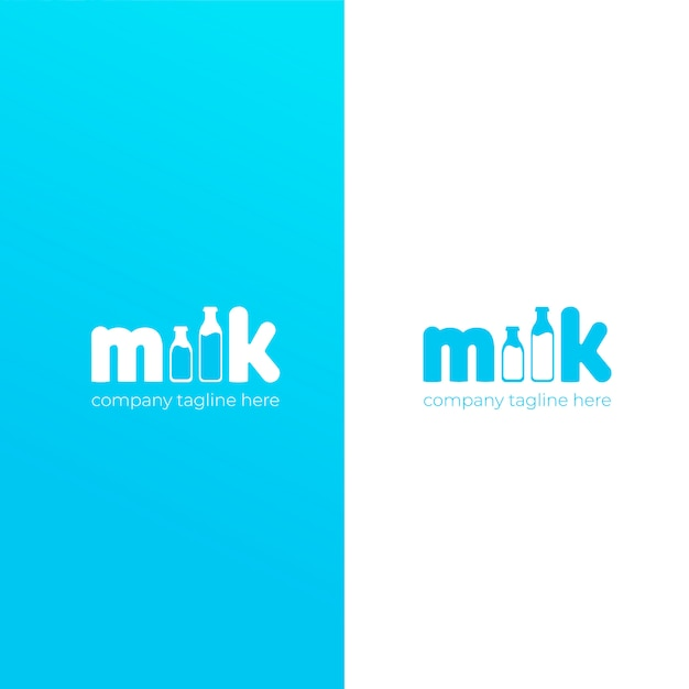 A simple cute logo for the brand of cow milk. Free Vector
