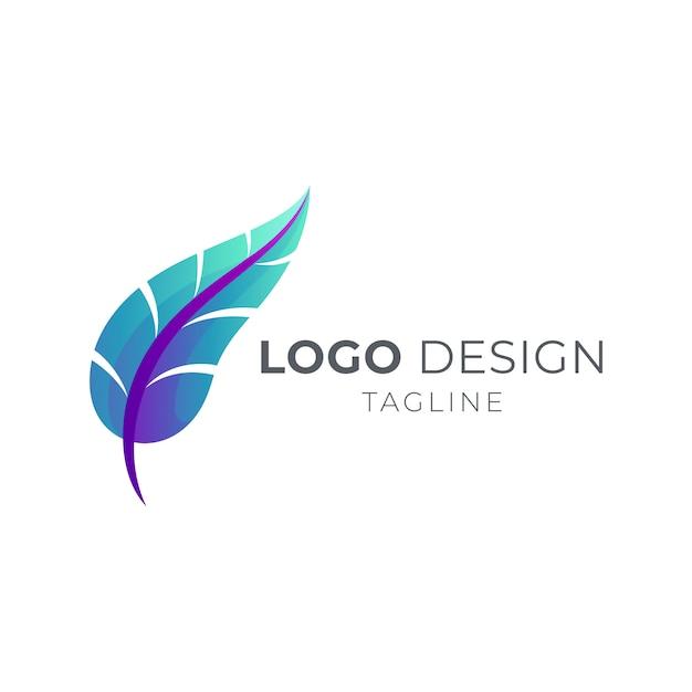 シンプルな羽のロゴ Premiumベクター