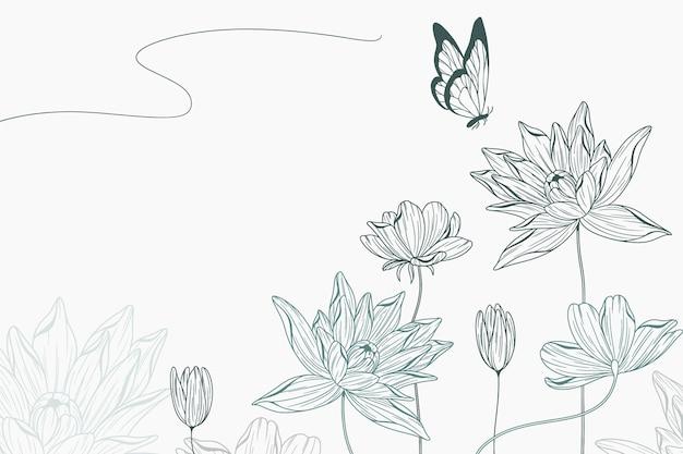 Semplice sfondo floreale Vettore gratuito