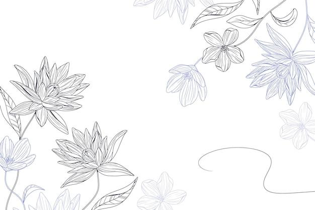 간단한 꽃 배경 무료 벡터