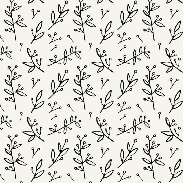 simple floral pattern vector premium download