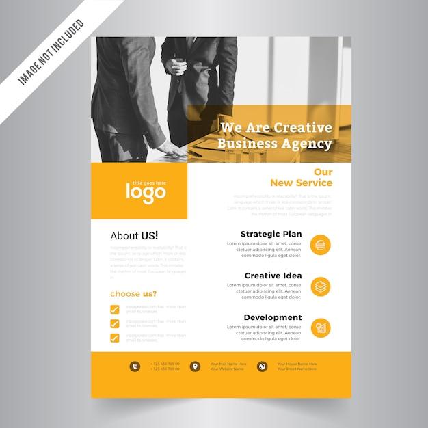 Simple Flyer Template Vector   Premium Download