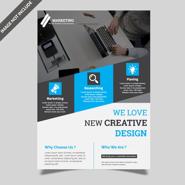 Simple flyer template Premium Vector