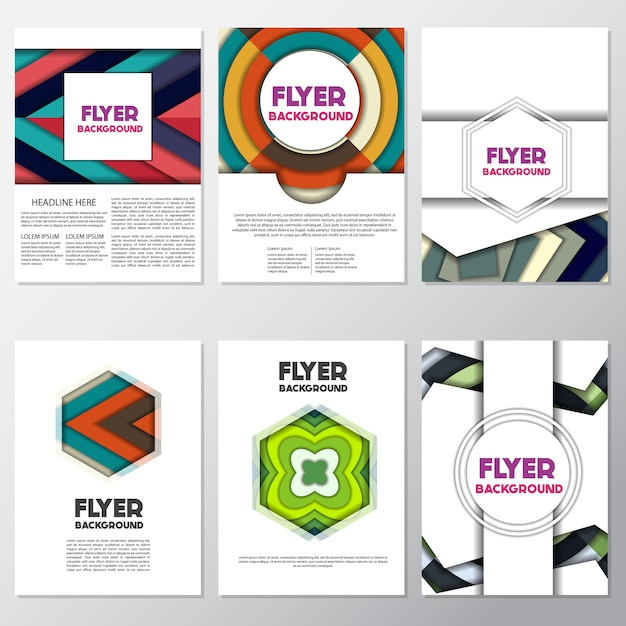 simple flyers collection vector free download
