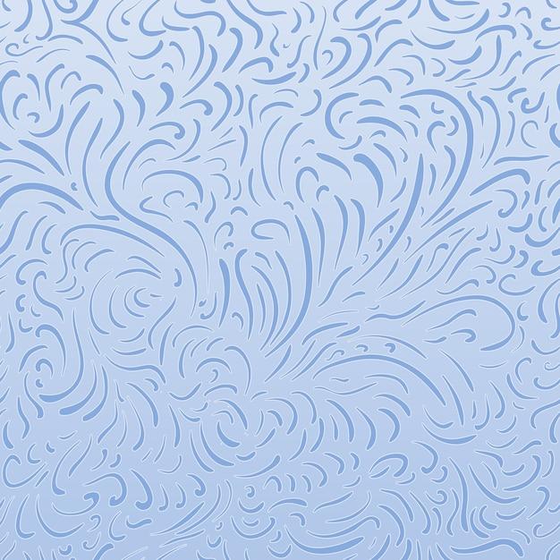 Semplice schema di congelamento delle linee sullo schermo, bianche e blu Vettore gratuito
