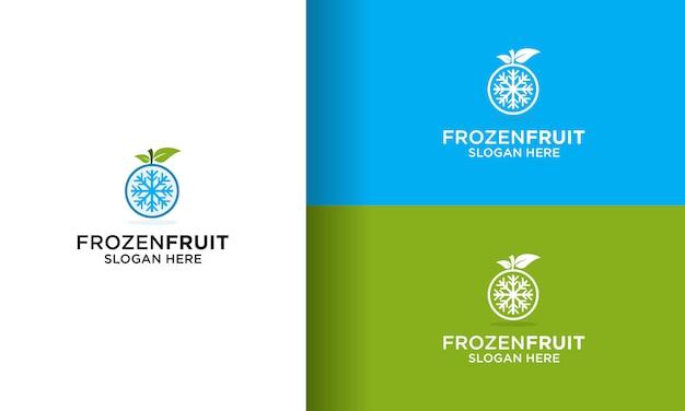 シンプルなフルーツ冷凍ロゴデザインベクトル Premiumベクター