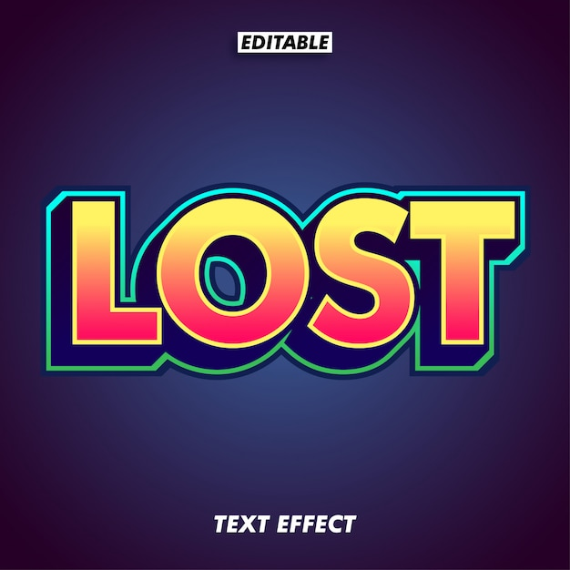 Simple game text effect with extrude effect Premium Vector