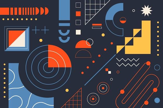 Semplici elementi geometrici in design piatto Vettore gratuito
