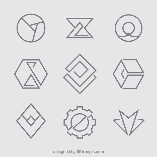 Simple logo vectors photos and psd files free download for Easy way to create a logo