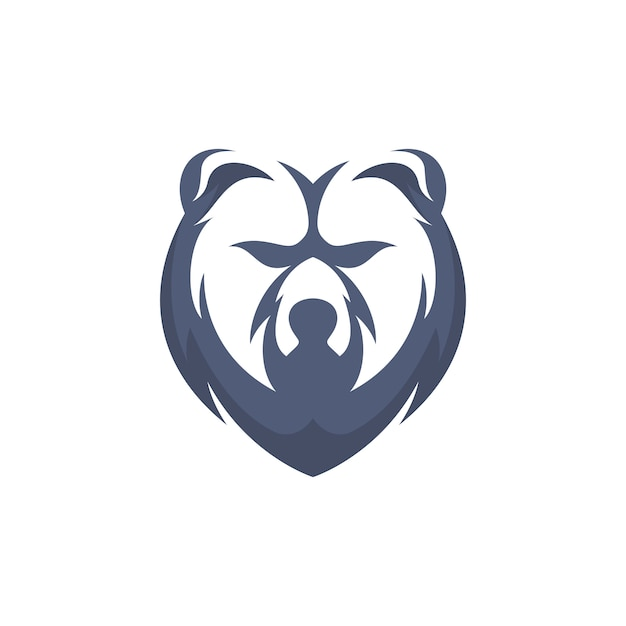 Simple head bear Premium Vector