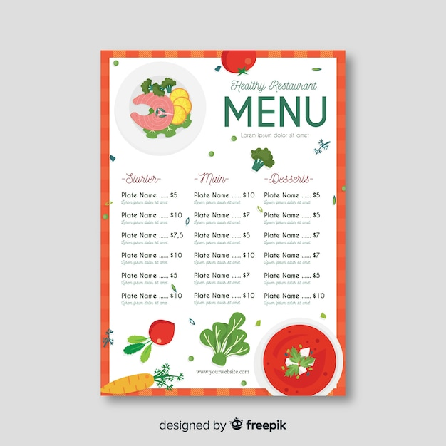 Simple Menu Template from image.freepik.com