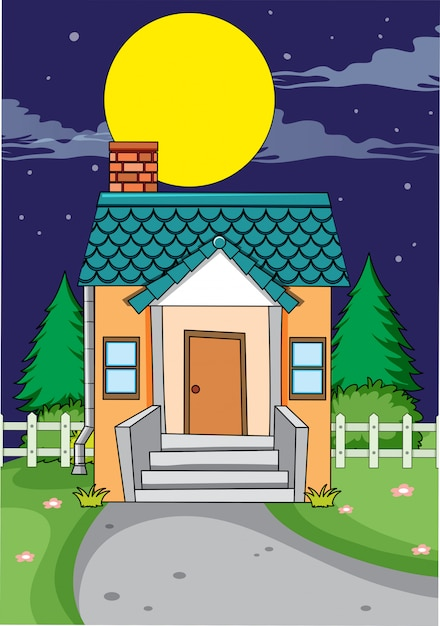 A simple house background Free Vector