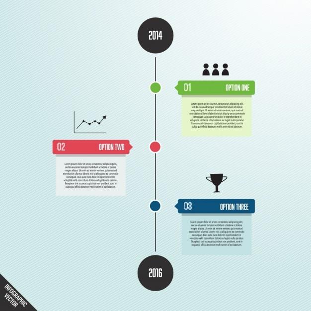 اینفوگرافیک ساده با زمان خط و گزینه ها