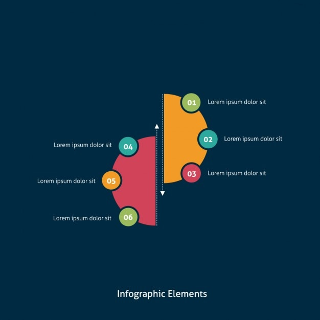 Simple infographics with circles Vector | Free Download