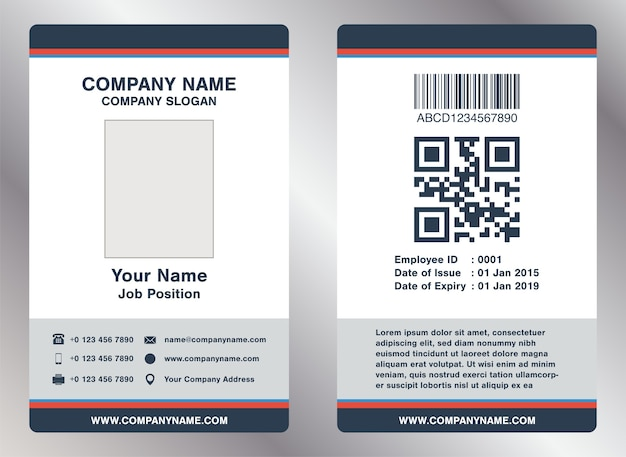 Simple Landscape Employee Id Card Template Vector Vector