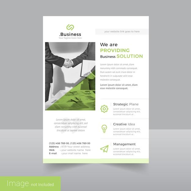 Simple Leaflet Flyer Design Template Vector Premium Download