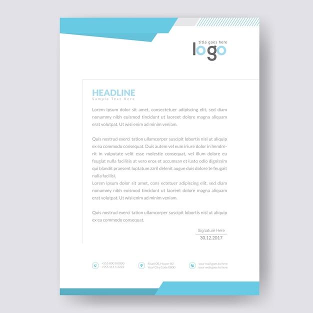 Simple letterhead Premium Vector