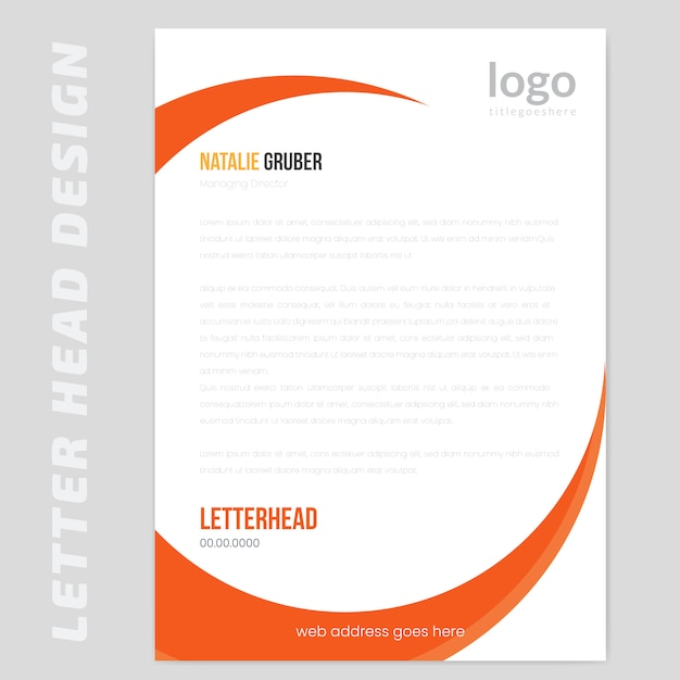 Simple letterhead Premium Vector