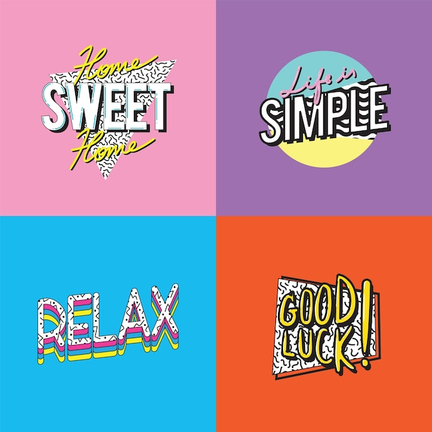 Simple lifestyle passion word graphic illustration Free Vector