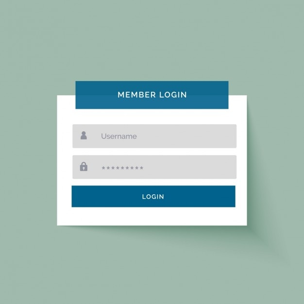 Simple login template Vector | Free Download