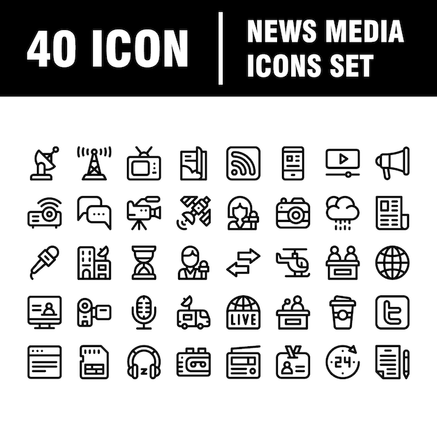 Simple media icons set. universal media icon to use for web and mobile ui Premium Vector