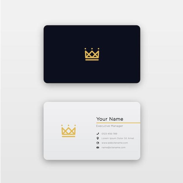 Simple minimal royal business card Premium Vector