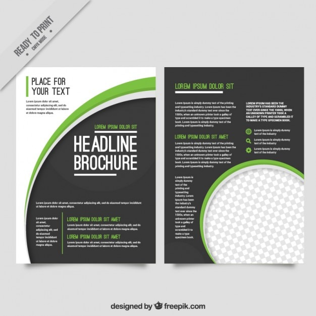 simple modernist brochure vector free download