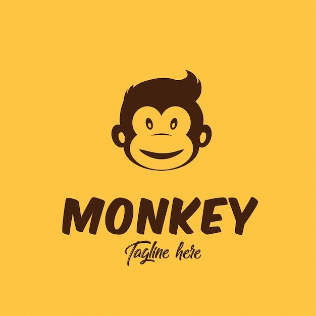 Simple monkey logo for barbershop identity Premium Vector