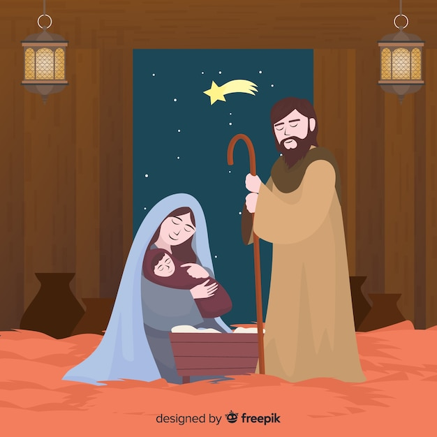 Simple nativity background Free Vector