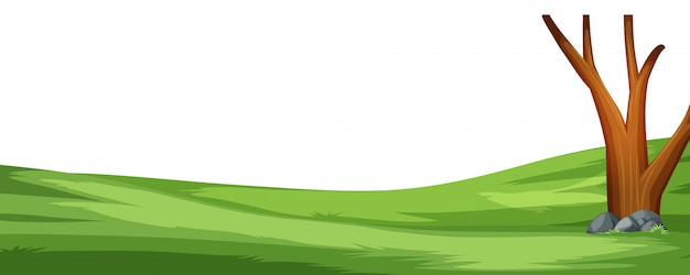 A simple nature scene background Free Vector