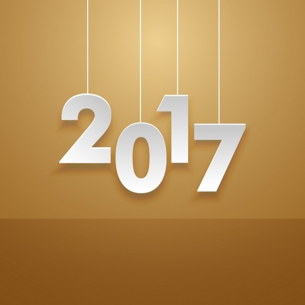 simple new year 2017 background free vector