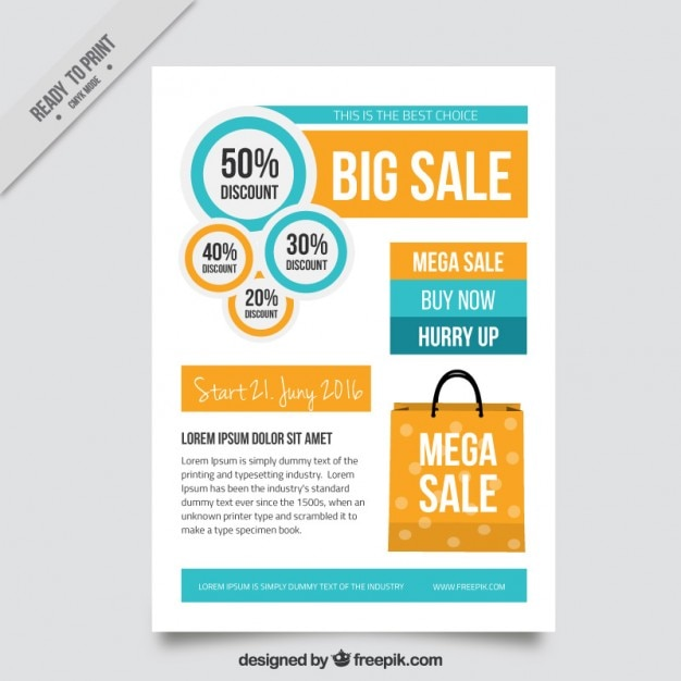 simple offer brochure vector free download