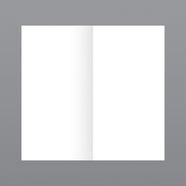 Semplice rivista aperta, mockup con sfondo grigio Vettore gratuito