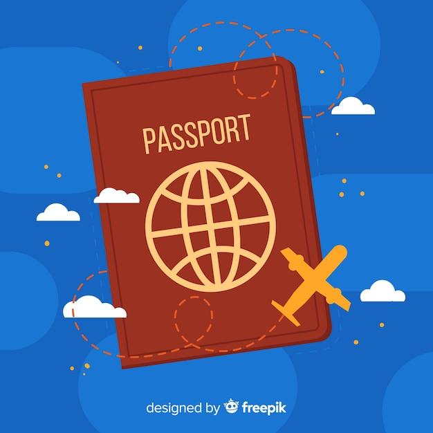 単純なパスポートの背景 Premiumベクター