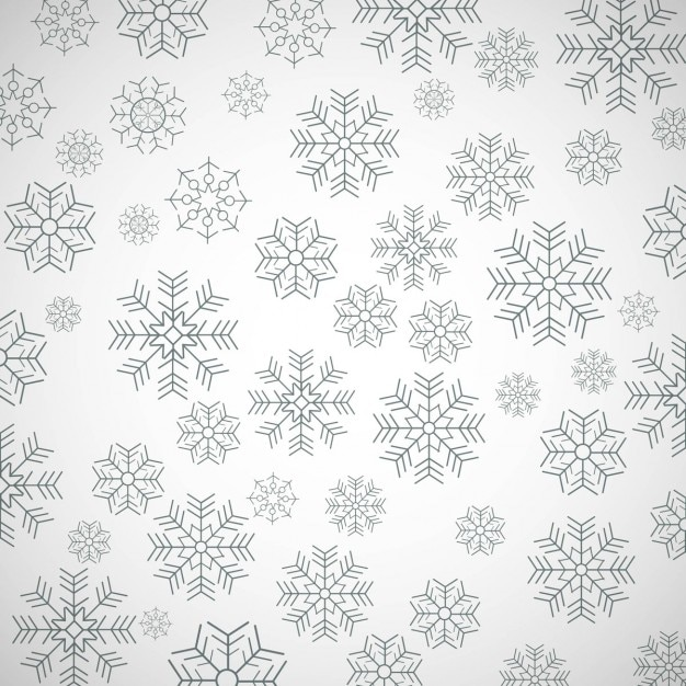 Simple pattern with snowflakes Free Vector