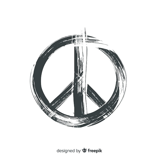 Simple peace sign background Free Vector