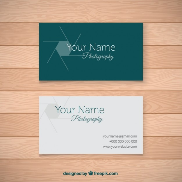 Simple photo studio card