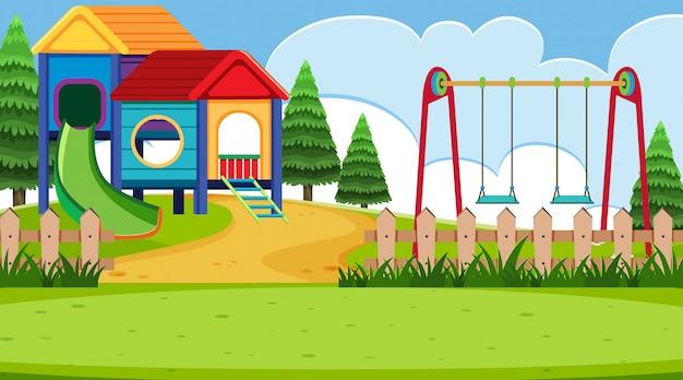 A simple playground scene Premium Vector