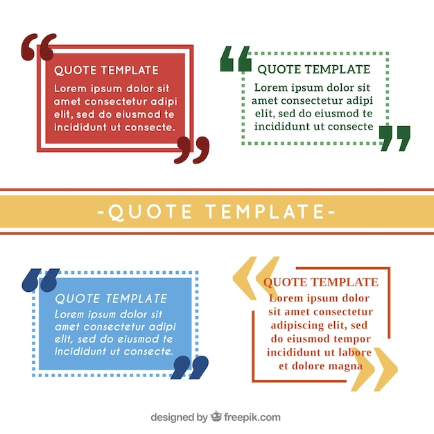 simple quotation template