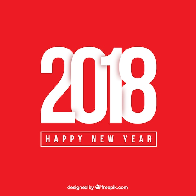 simple red new year background free vector