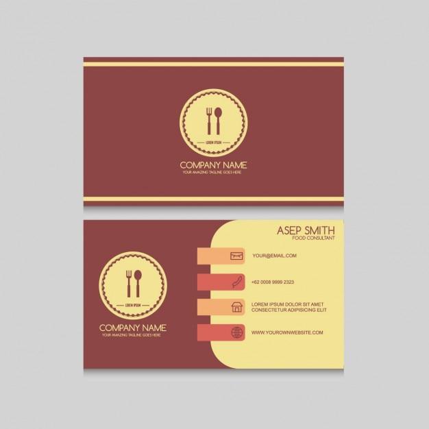 Simple restaurant card Free Vector