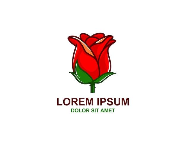 Simple Rose Logo Vector Premium Download