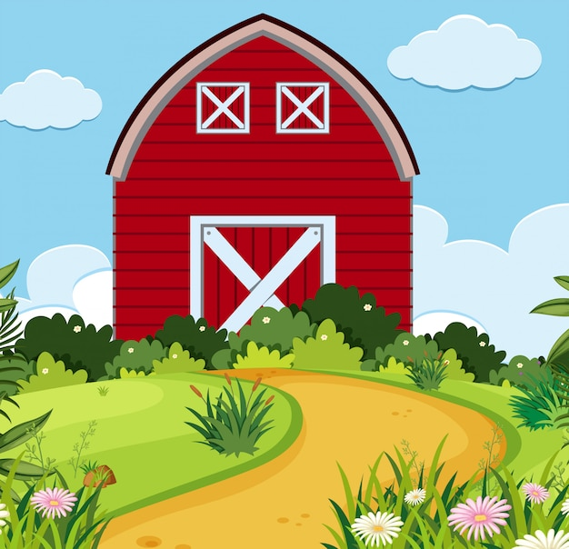 A simple rural house Premium Vector
