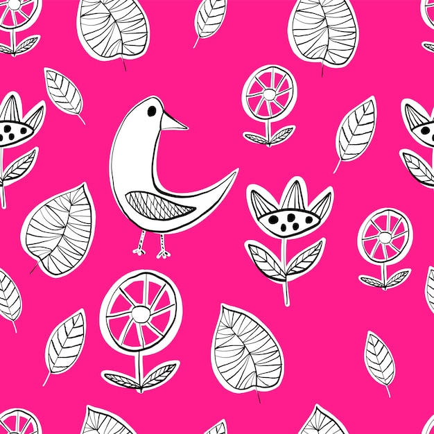 Simple scandinavian  pattern Premium Vector